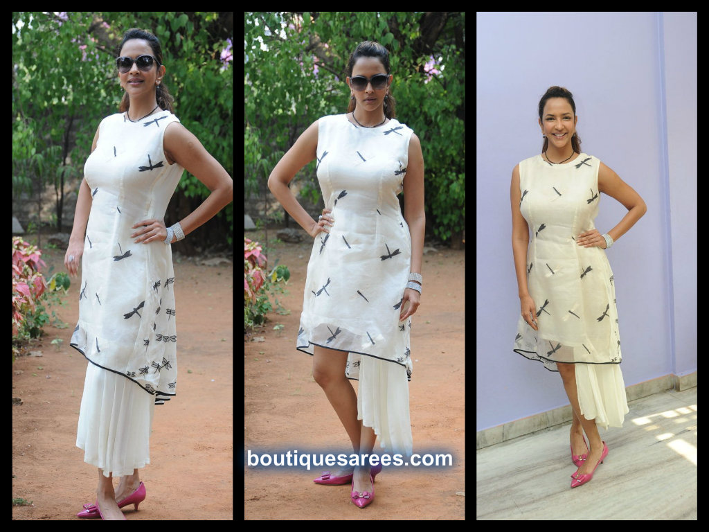 manchu lakshmi in designer dress