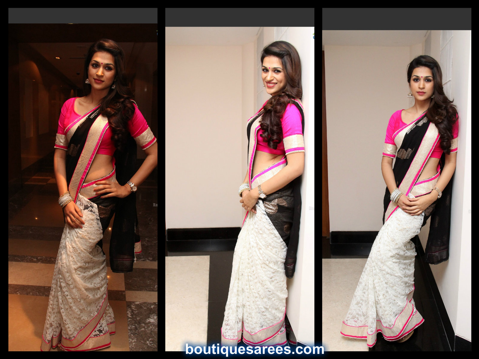Shraddha Das in Half and Half Saree