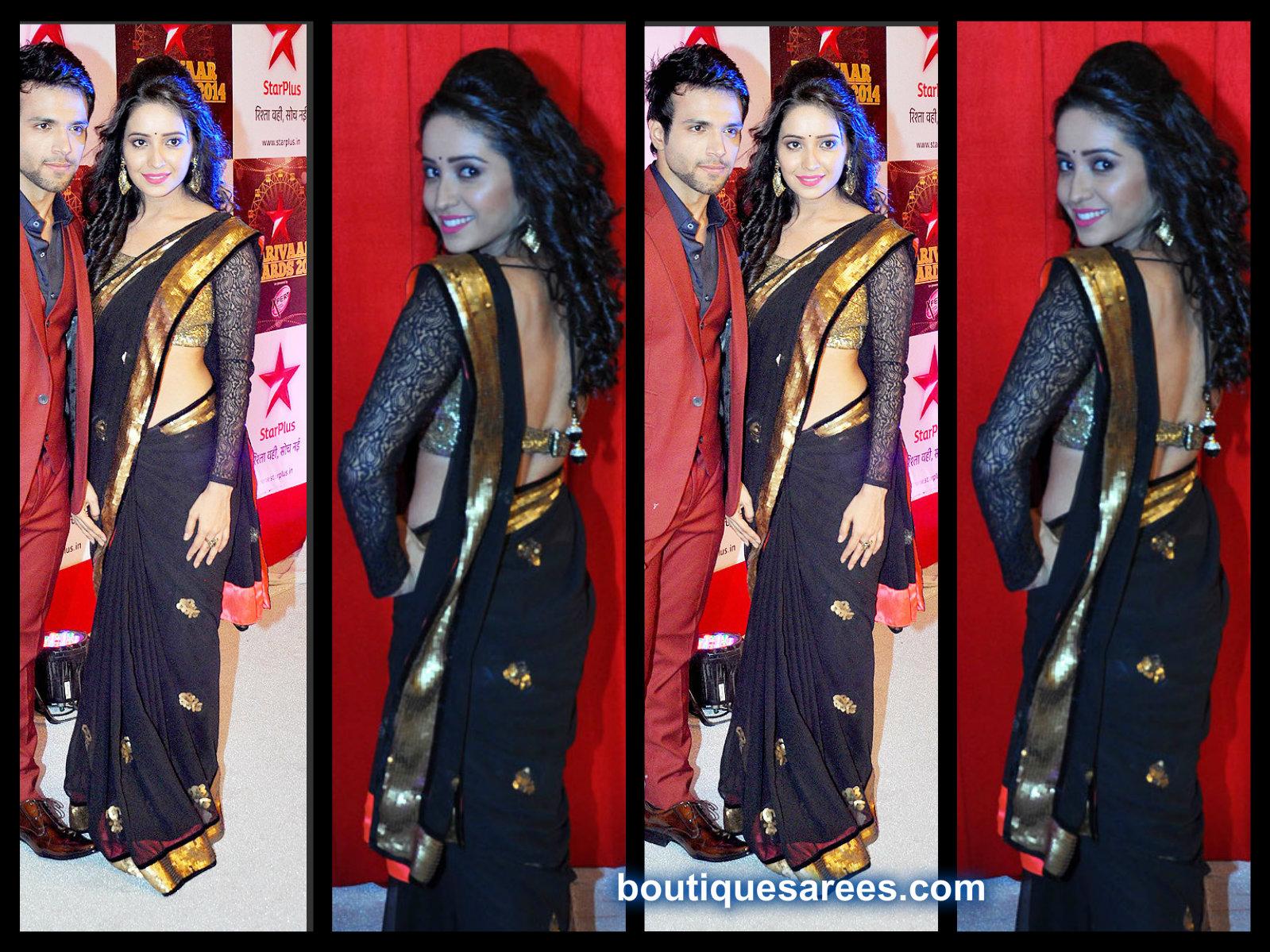 asha negi in black saree