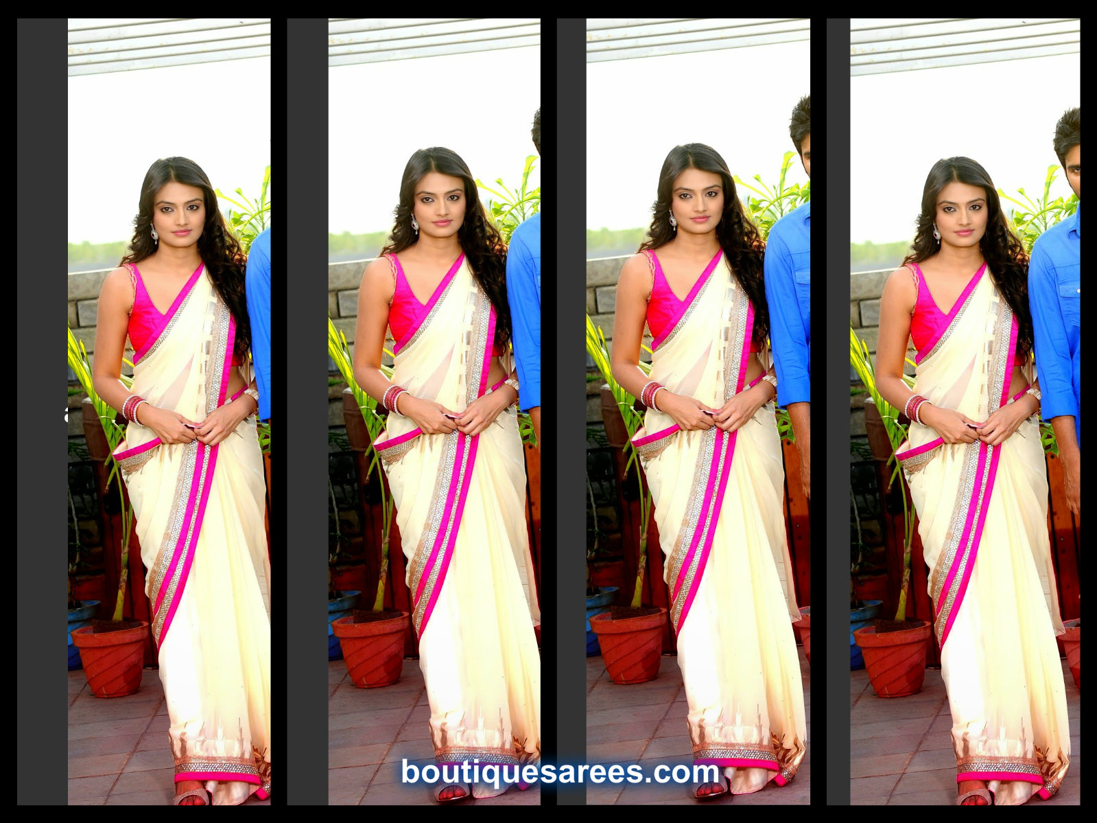 nikita in white saree