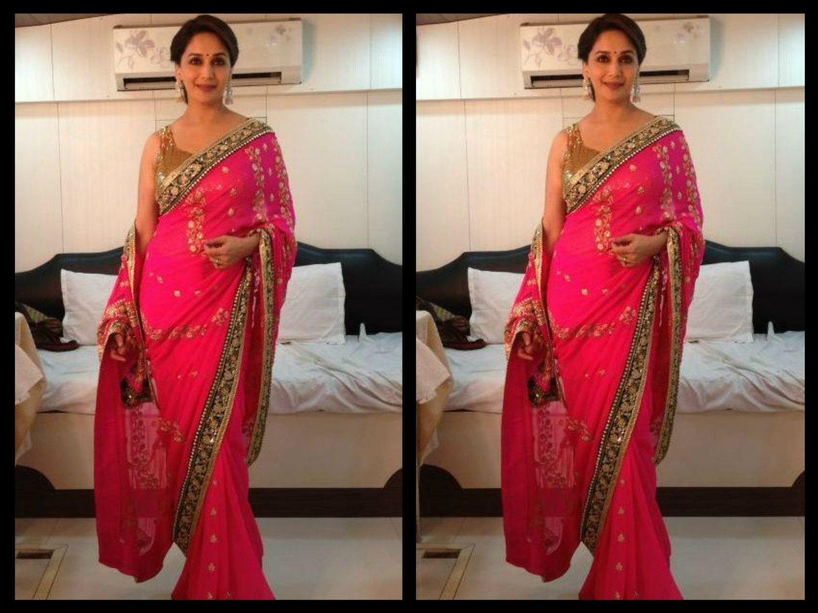 pink saris
