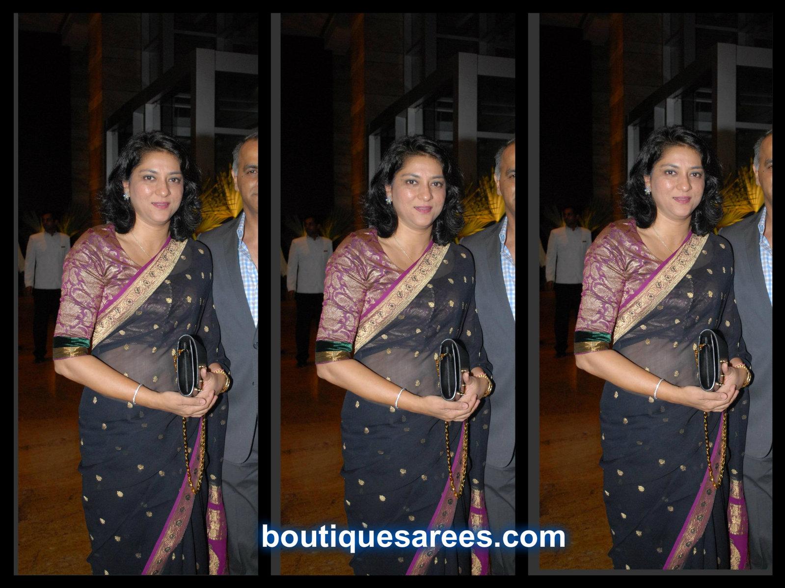 priya dutt in black saree