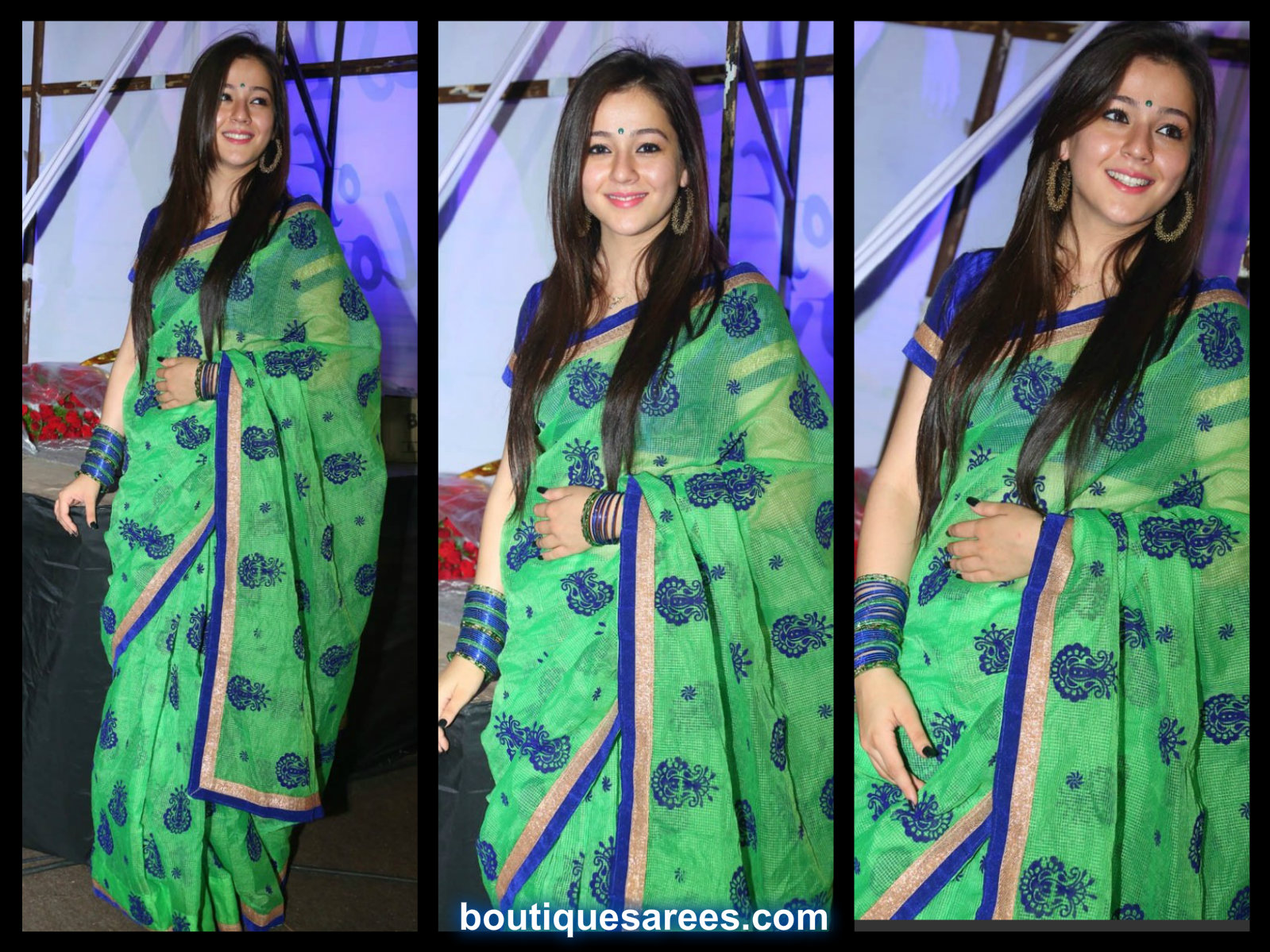 priyal in printed saree