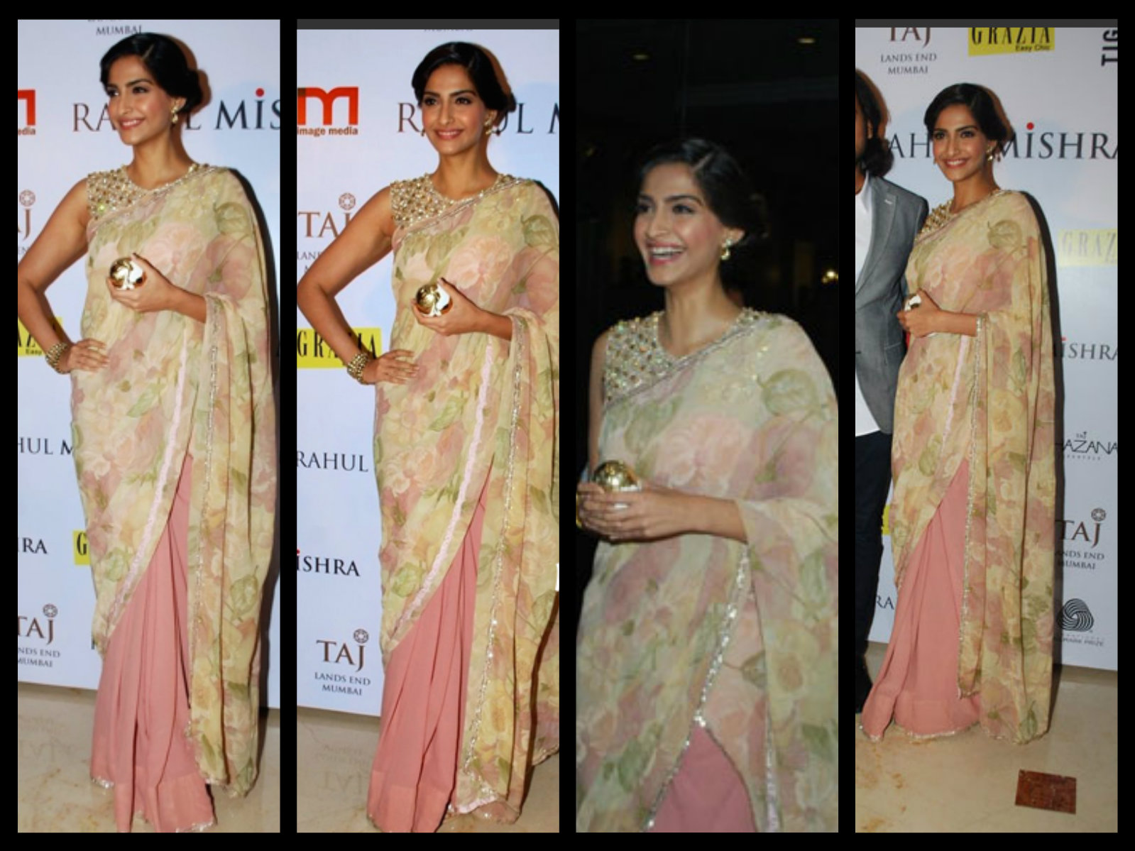 sonam kapoor in half and half saree