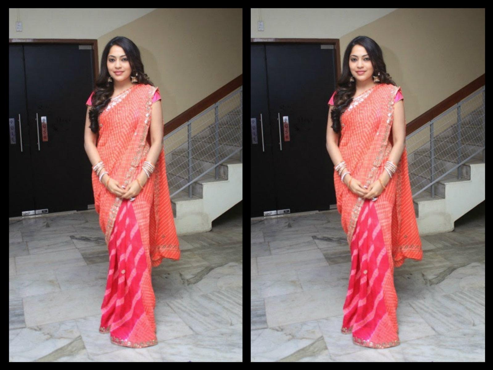 Tv Actress Ramya In Half And Half Saree Boutiquesareescom