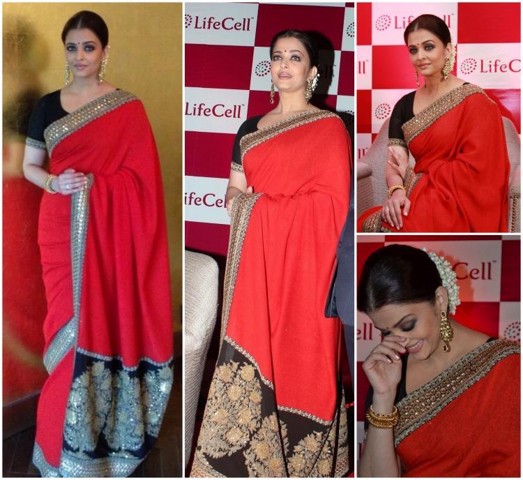 Aishwarya Rai Bachchan Sabyasachi Life Cell Chennai