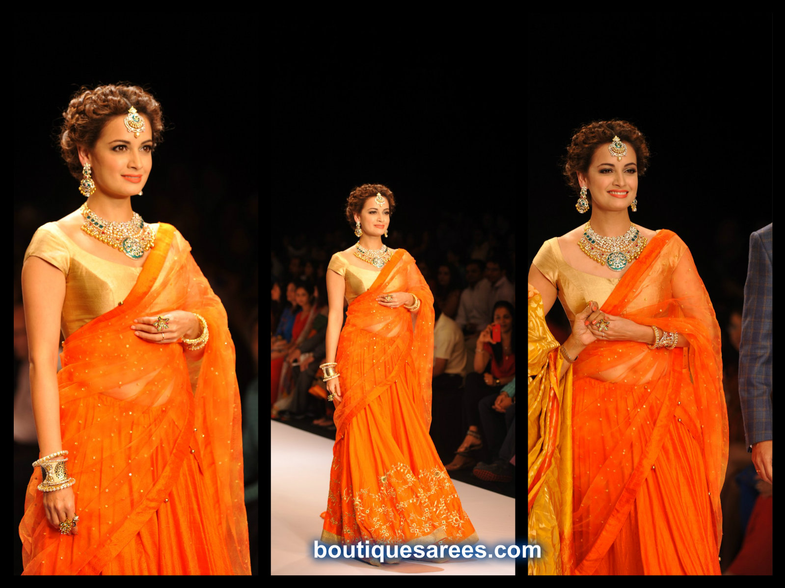 Dia Mirza Walks for Shobha Shringar Jewels at IIJW 2014