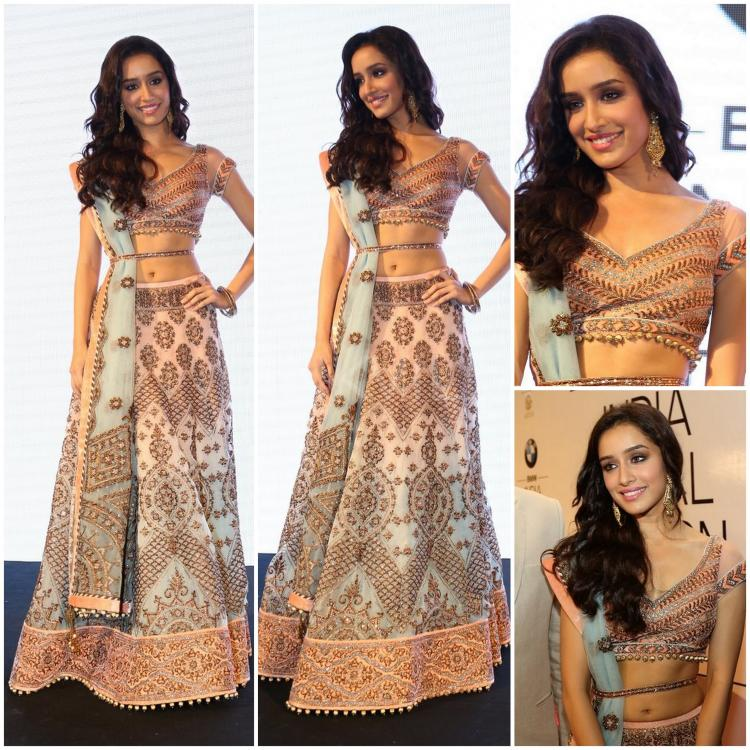 SHRADDHA KAPOOR JJ Valaya Indian Bridal  fashion week
