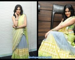 Adah Sharma in embroidery half saree