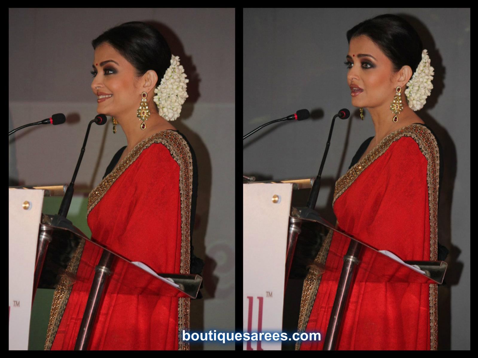 aishwarya rai in red saree