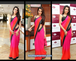 deeksha panth in double shaded saree