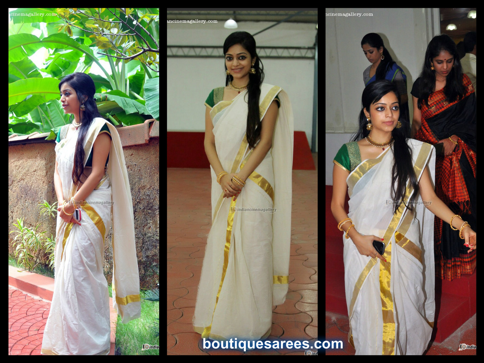 janani in white saree