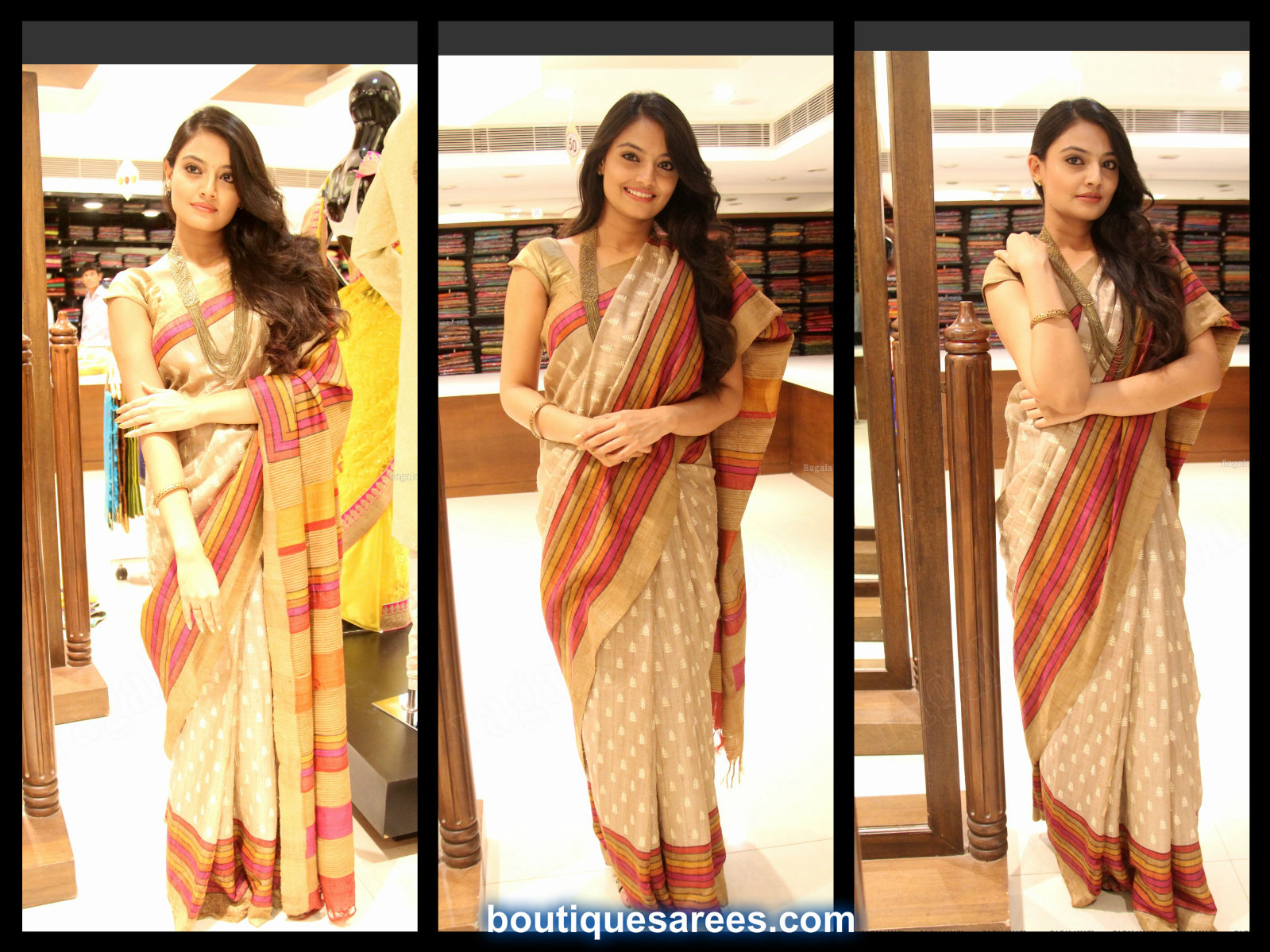 nikita in silk saree
