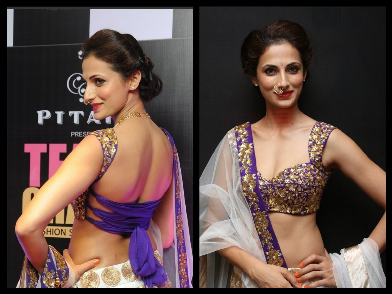 shilpa reddy in backless blouse