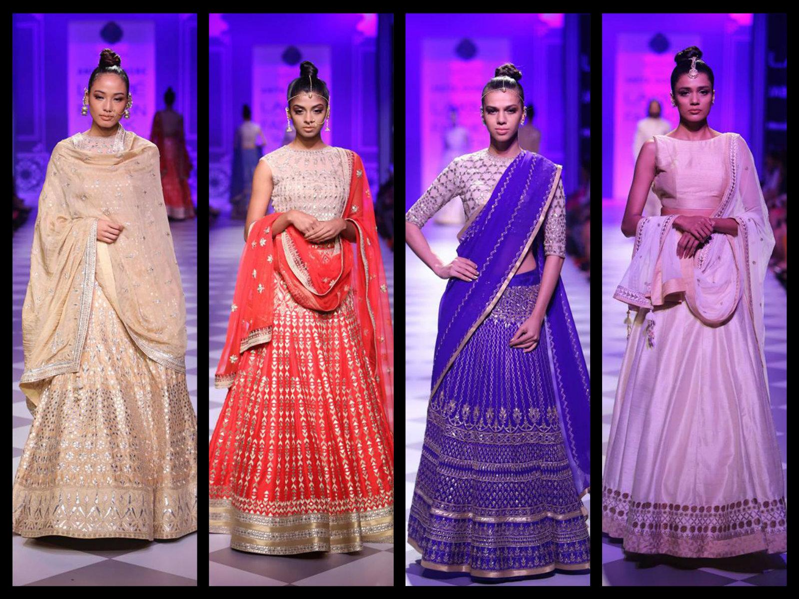 anitha dongre embroidery half saree