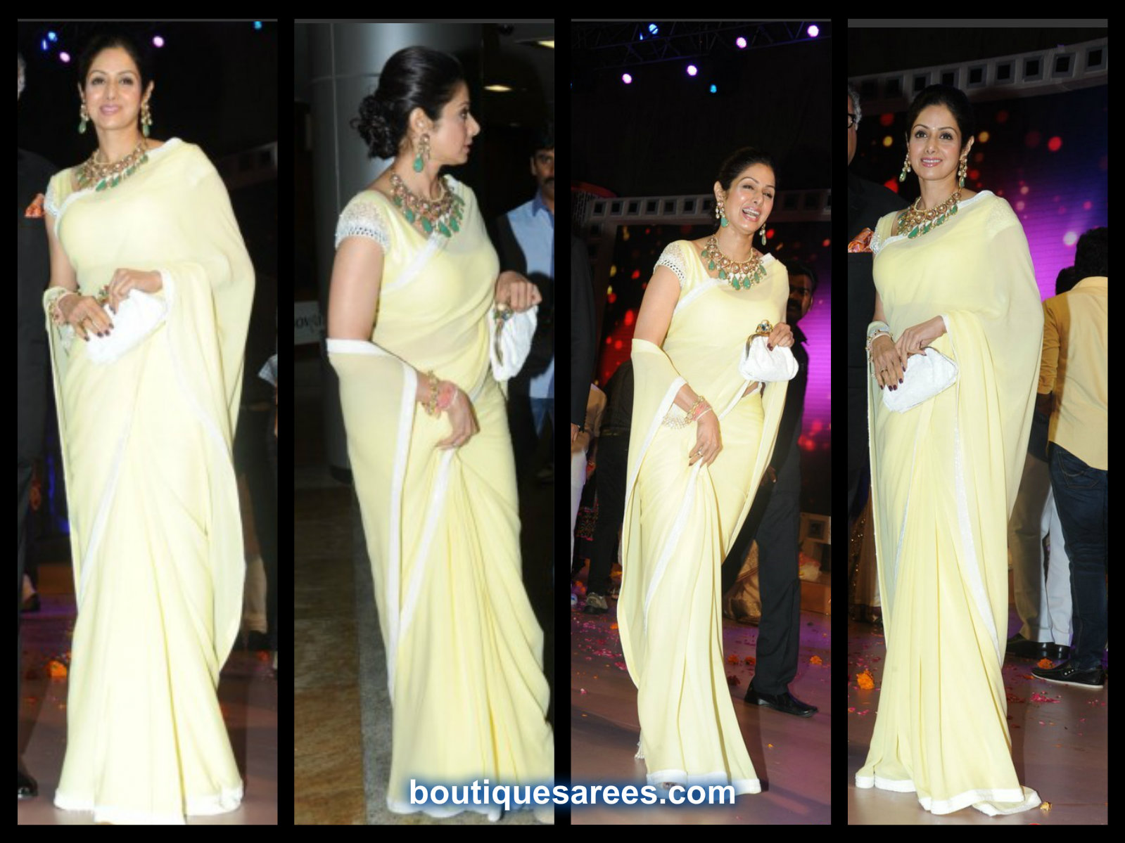 sridevi in plain saree