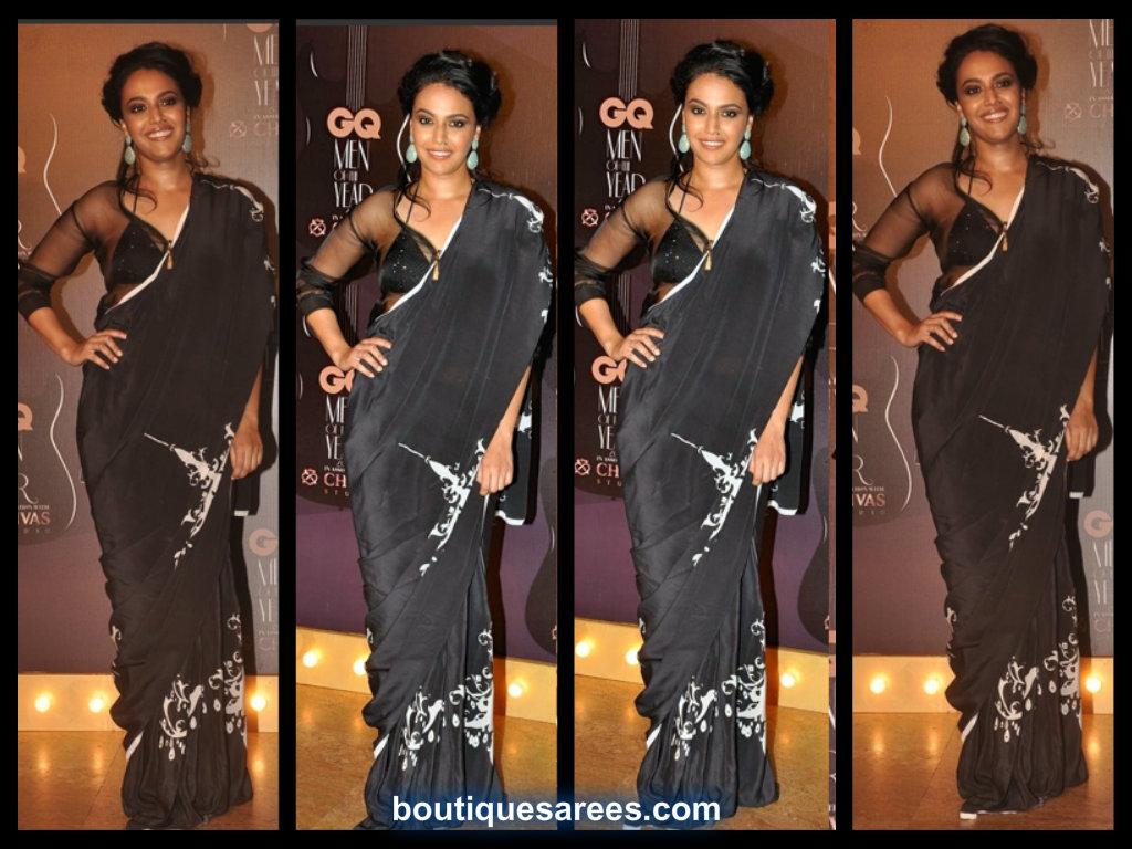 Swara Bhaskar In Farah Sanjana saree