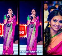 lakshmi menon in pink saree