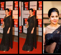 maheshwari in blackl saree