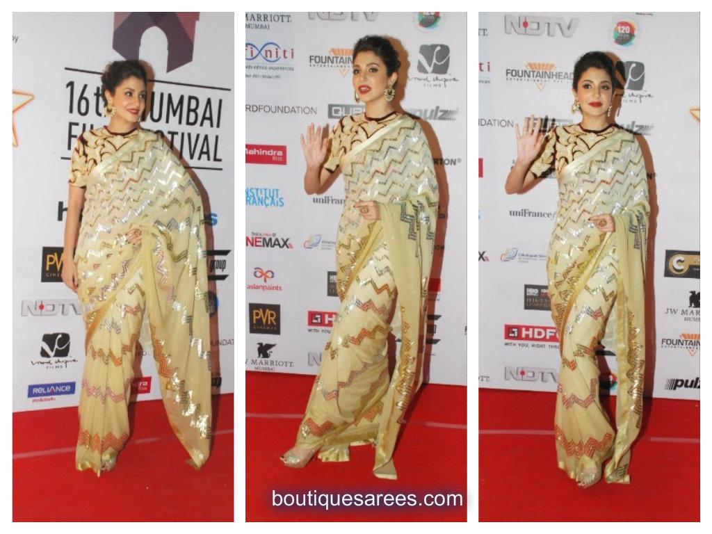 Anushka Sharma in abu sandeep saree