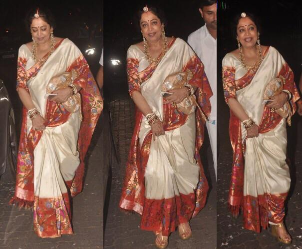 Kiron Kher  in paithani saree