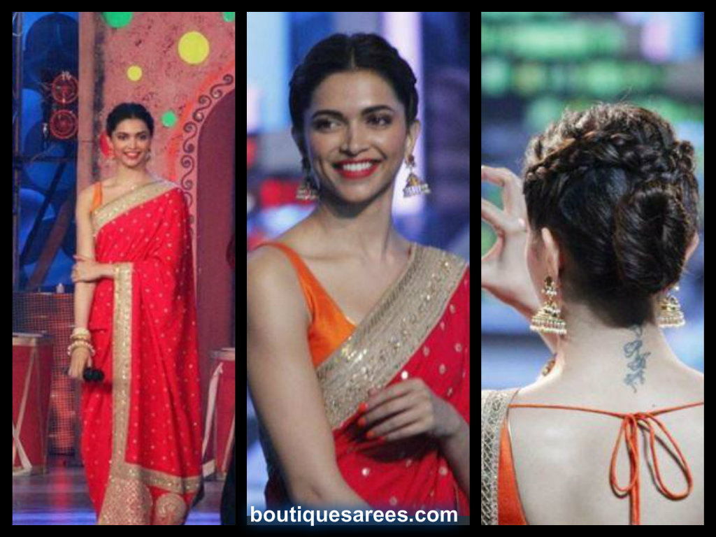 deepika in sabyasachi saree