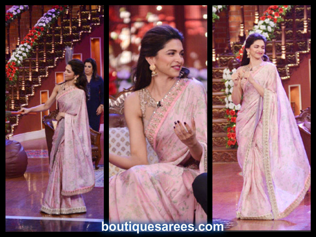 deepika padukone in anushree reddy sari