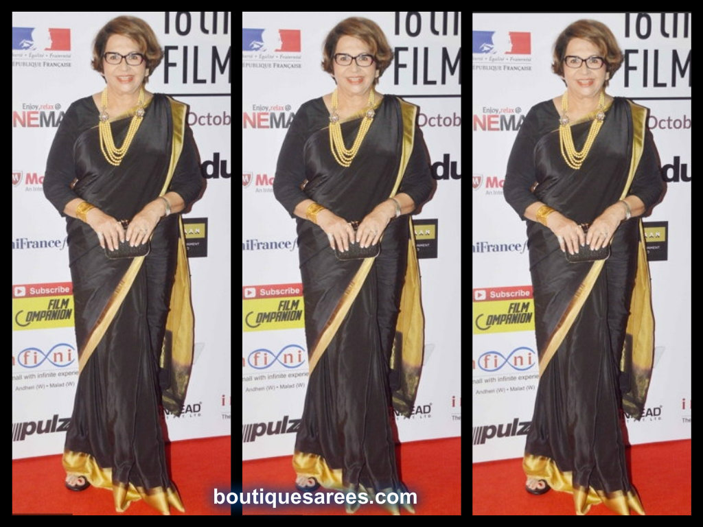 helen in black saree