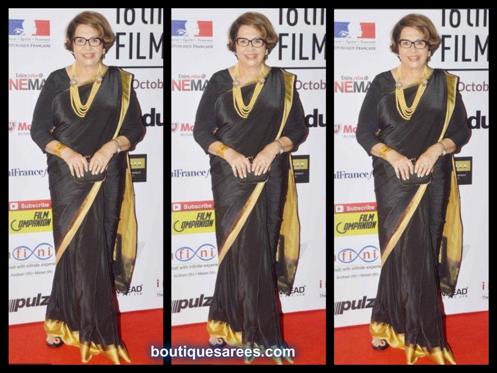 helen in black saree