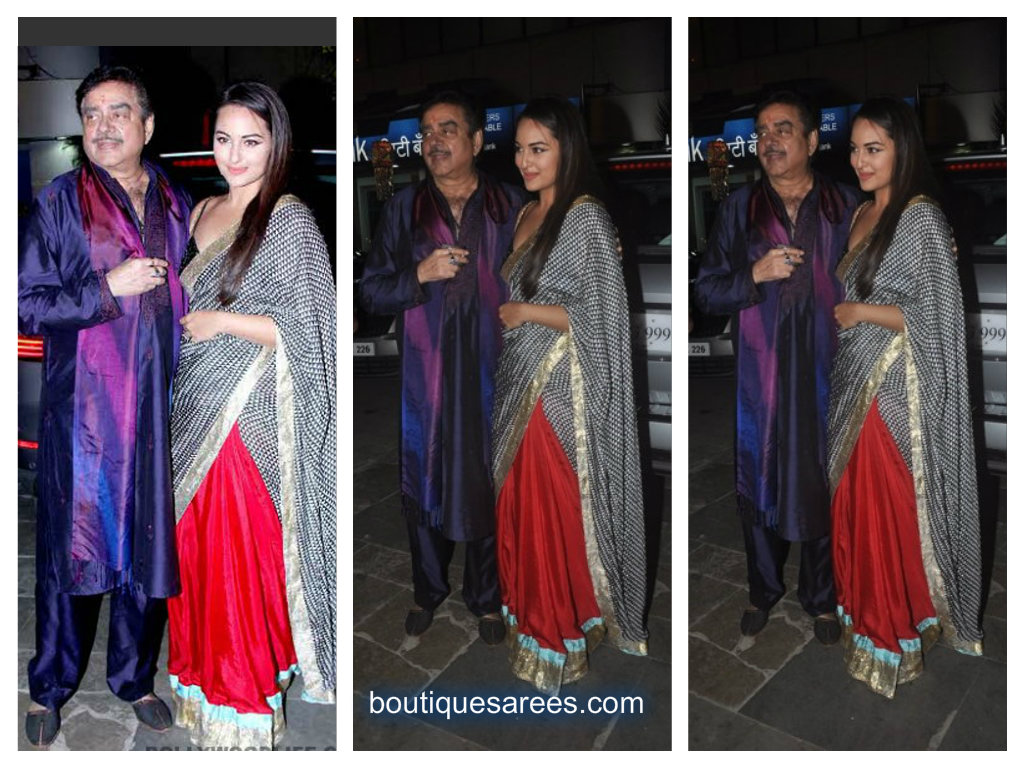 sonakshi sinha in masaba saree