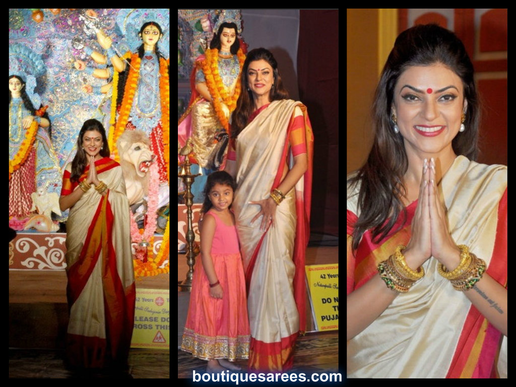 sushmita sen in silk saree