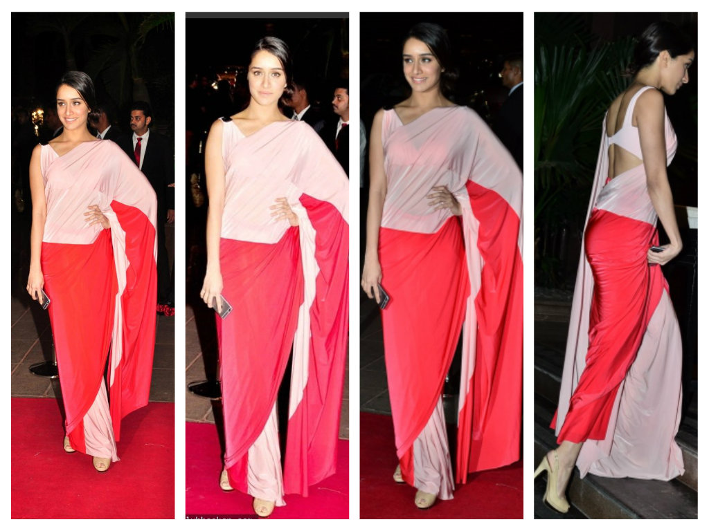 Shraddha Kapoor in shivan and naresh saree