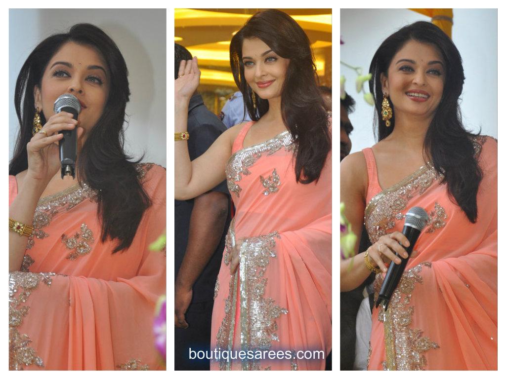 aish in sari blouse