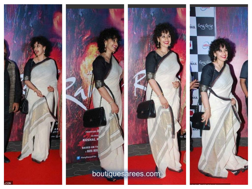 manisha in white saree