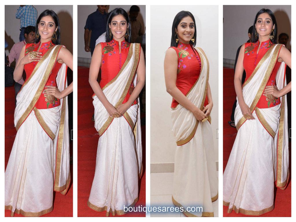 rezina in white saree