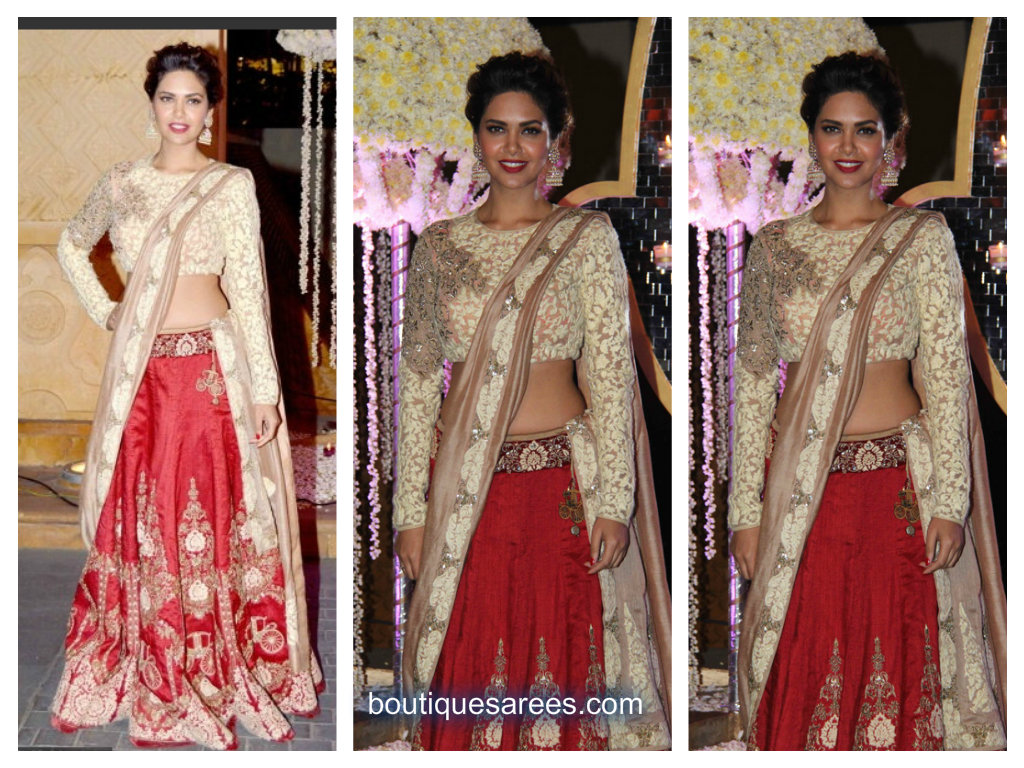 esha gupta in manish malhotra