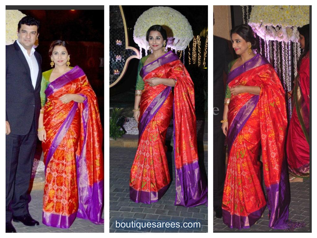 vidya balan in silk saree