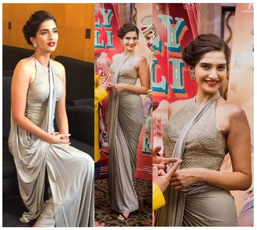 Sonam Kapoor in Shantanu and Nikhil Saree