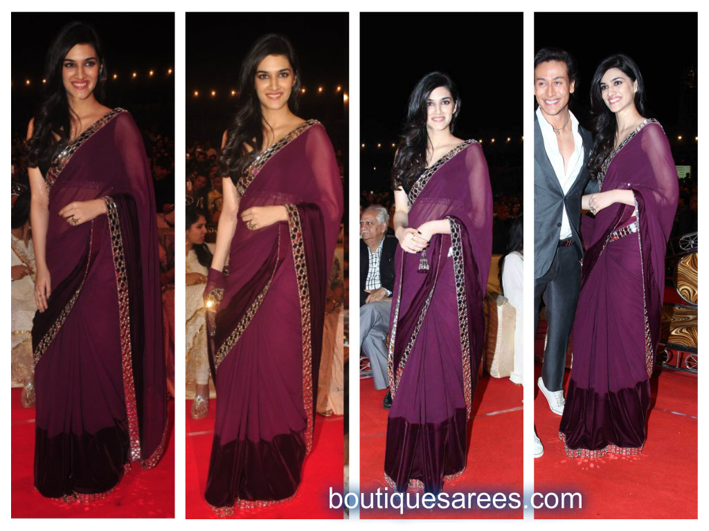 kriti sanon in manish malhotra saree