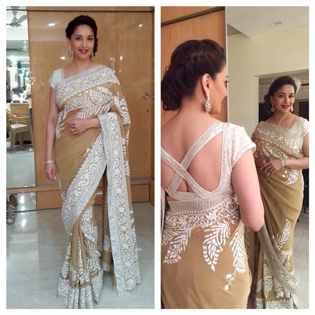 madhuri dixit in abujani sandeep khosla sari
