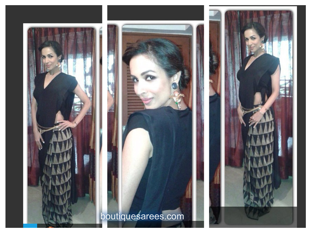 malaika in black sari