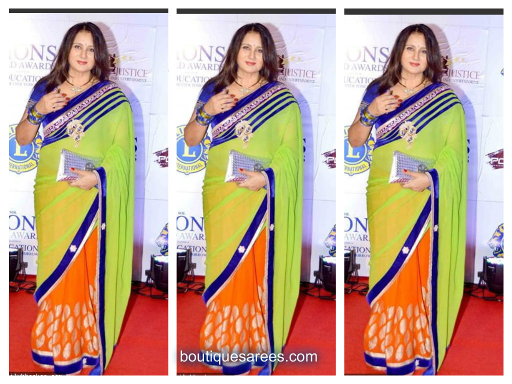 poonam dhillon in half and half sari