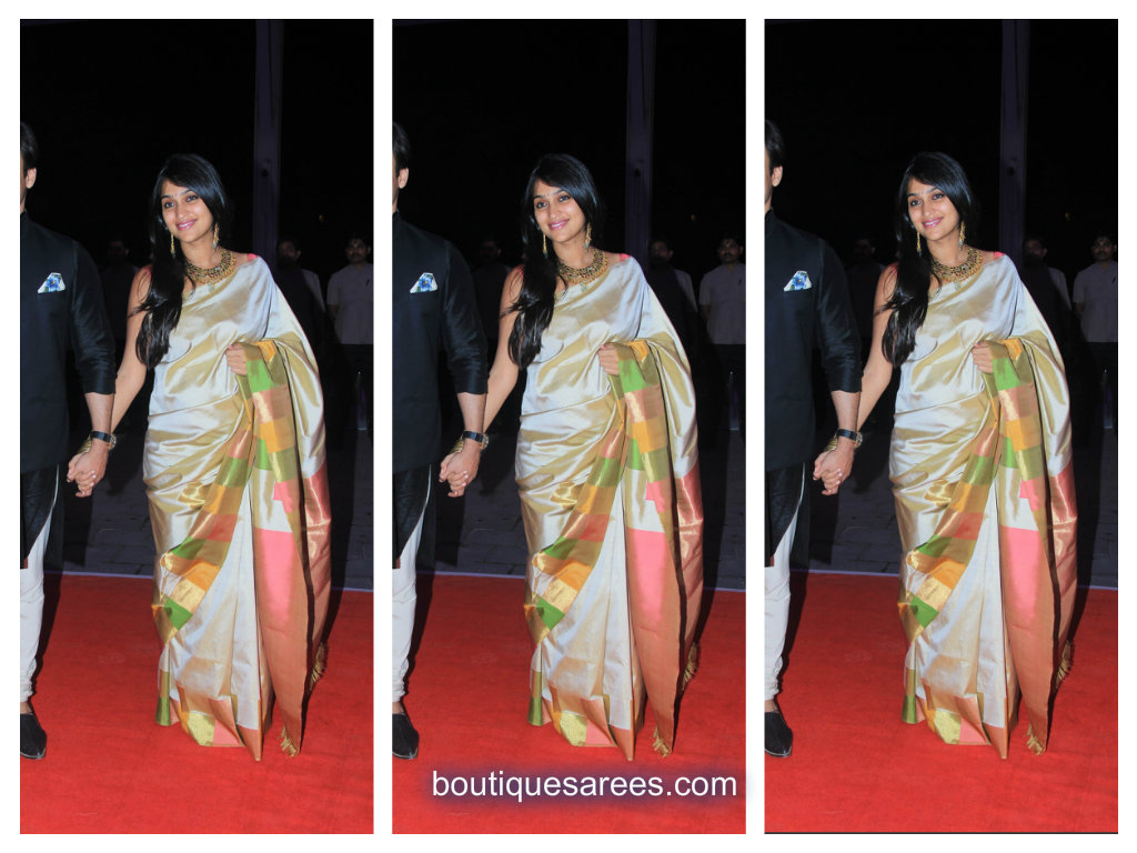 prinyanka alva in silk saree