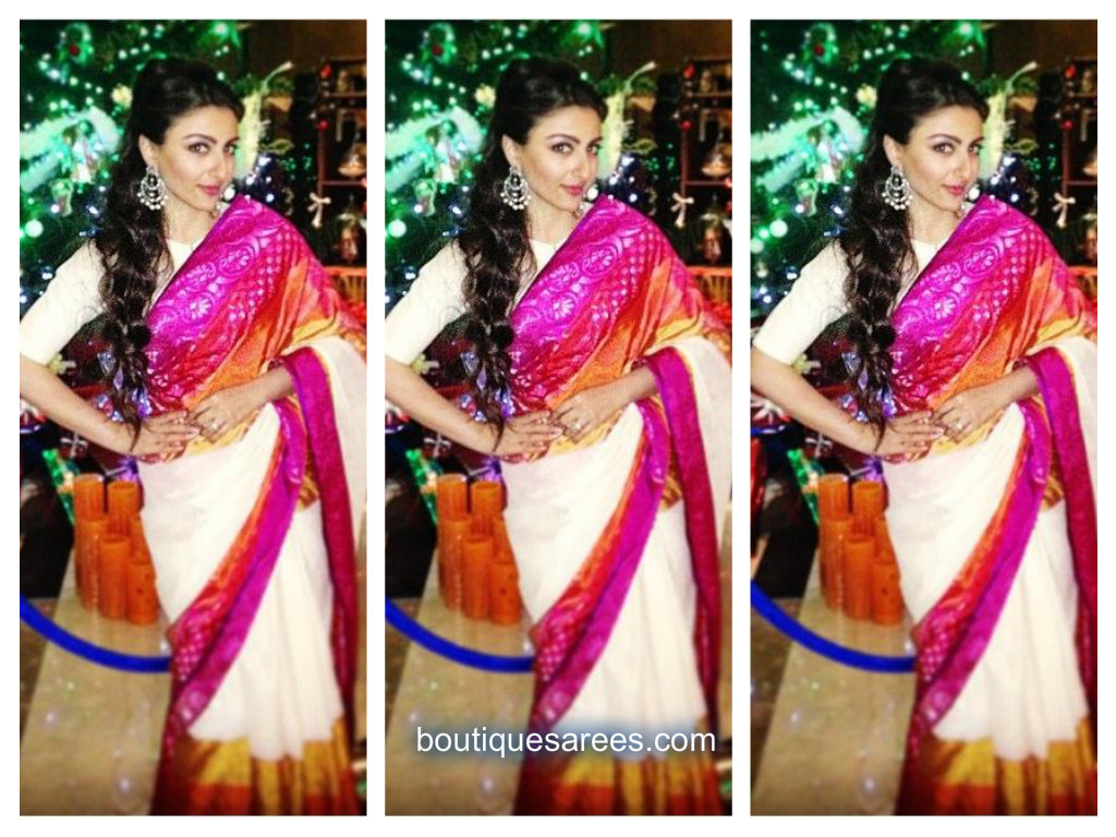 soha ali khan in gaurang saree