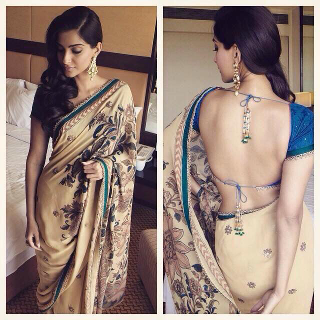 sonams in saree