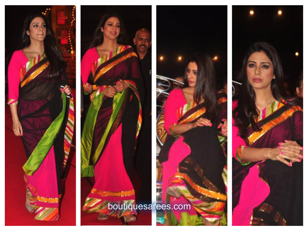 tabu in half and half saree