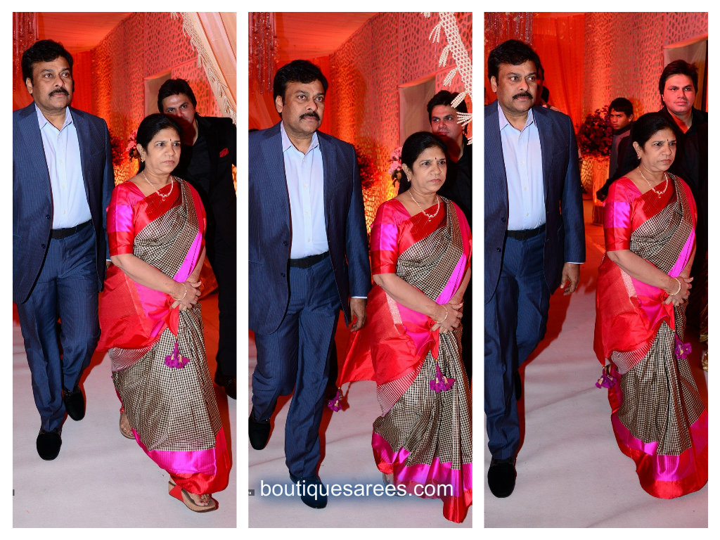 Surekha Chiranjeevi in silk saree