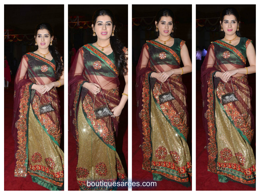 archana in lehenga saree