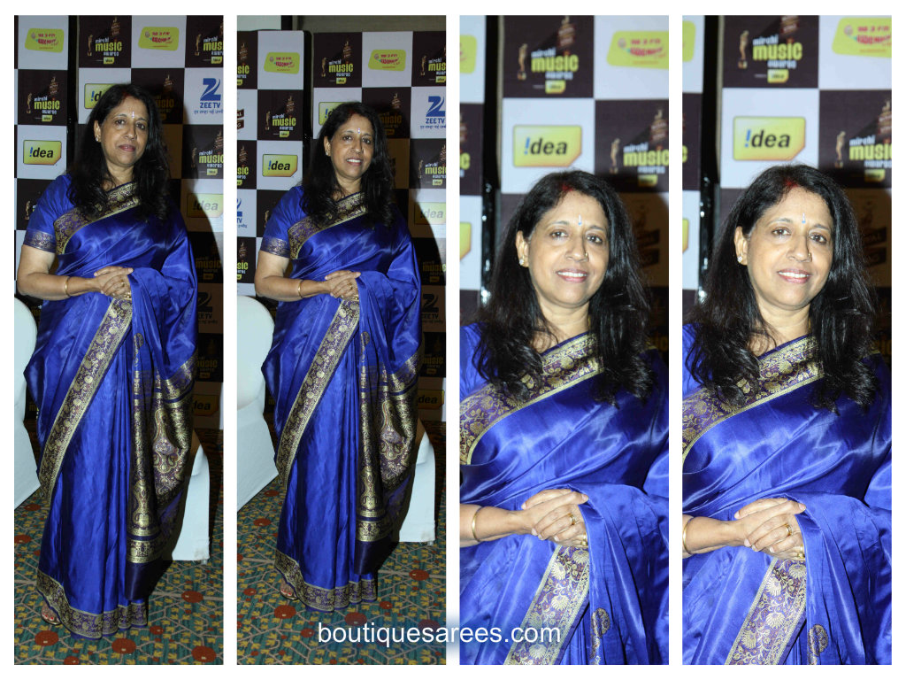 kavitha krishna murthy in silk saree
