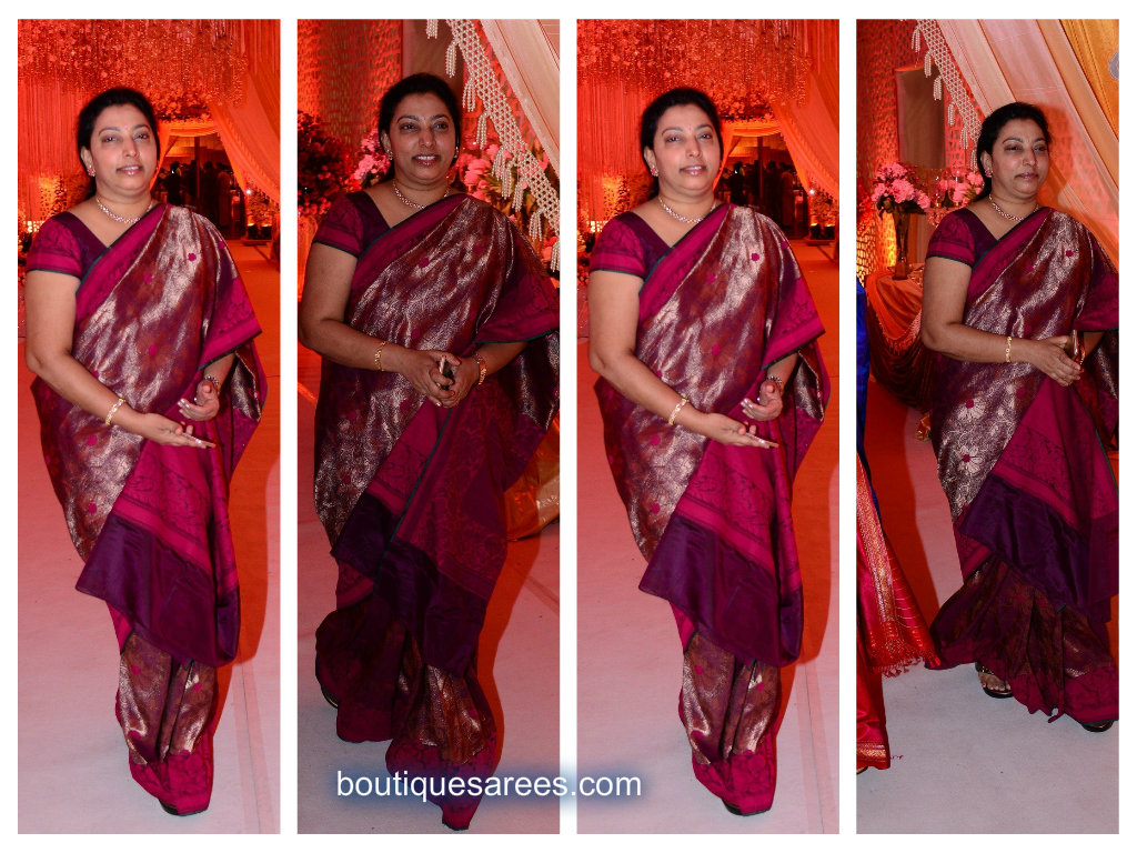 vasundara in silk saree